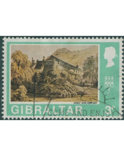 Gibraltar 1971 SG265 3p Convent Garden FU