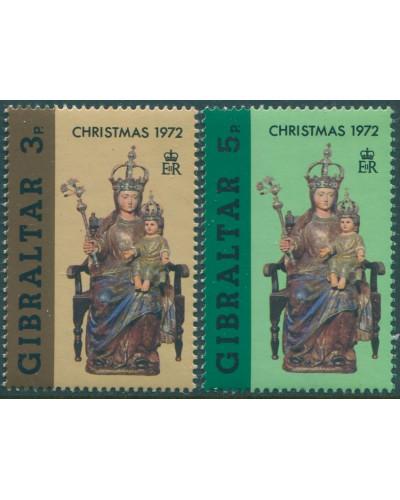 Gibraltar 1972 SG304-305 Christmas set MNH