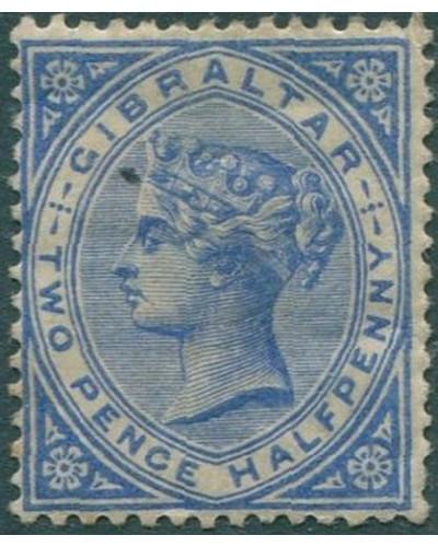 Gibraltar 1886 SG42 QV 2½d blue MH