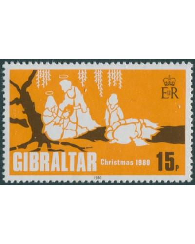 Gibraltar 1980 SG443 15p Christmas MNH