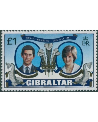 Gibraltar 1981 SG450 £1 Royal Wedding MNH