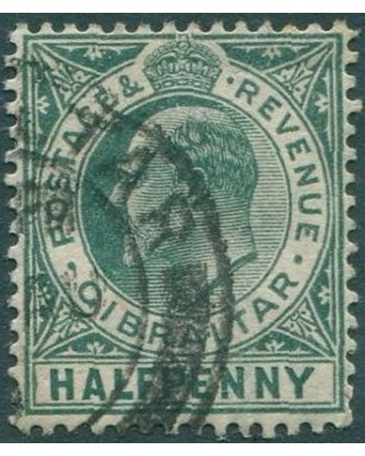 Gibraltar 1903 SG66 KEVII ½d light green FU