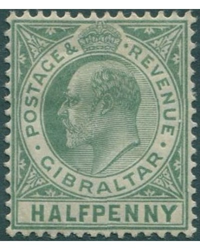 Gibraltar 1903 SG66 KEVII ½d light green MH