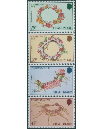Gilbert Islands 1978 SG75-78 Christmas set MNH