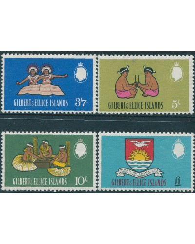 Gilbert & Ellice Islands 1965 SG100-103 Culture Arms high values MNH