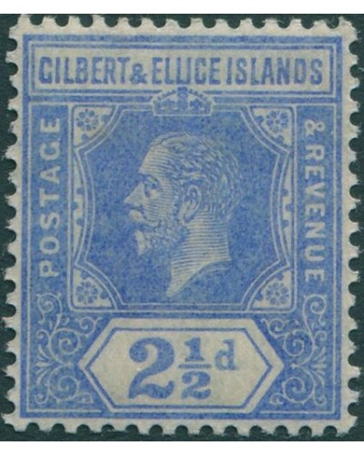 Gilbert & Ellice Islands 1912 SG15 2½d bright blue KGV MH