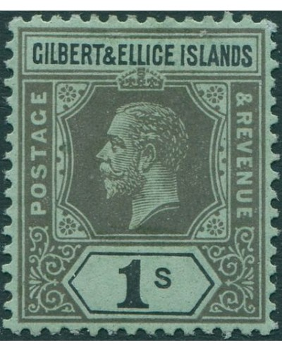 Gilbert & Ellice Islands 1912 SG20 1s black/green KGV MH