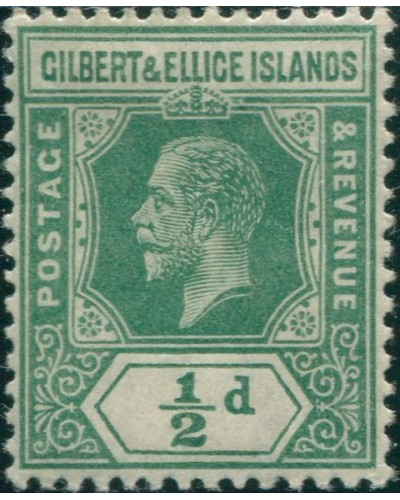 Gilbert & Ellice Islands 1922 SG27 ½d green KGV MH