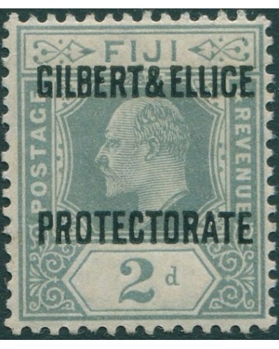 Gilbert & Ellice Islands 1911 SG3 2d grey KEVII with PROTECTORATE ovpt MNH