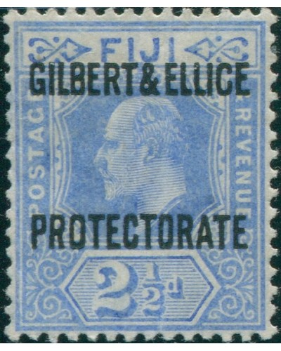 Gilbert & Ellice Islands 1911 SG4 2½d blue PROTECTORATE KEVII MNH