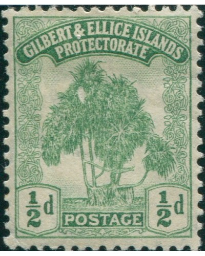 Gilbert & Ellice Islands 1911 SG8 ½d green Pandanus Pine MNH