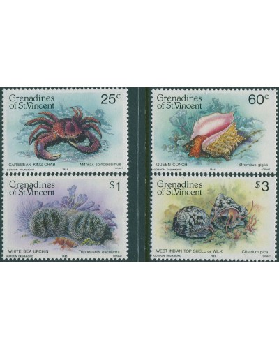Grenadines of St Vincent 1985 SG360-363 Shell Fish set MNH