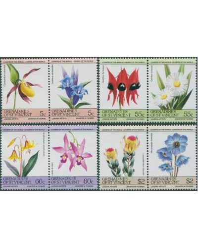 Grenadines of St Vincent 1985 SG370-377 Flowers set MNH