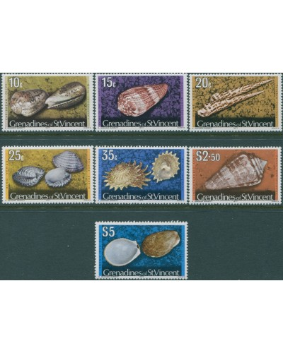 Grenadines of St Vincent 1977 SG42A-52A Shells 1977 imprints MNH