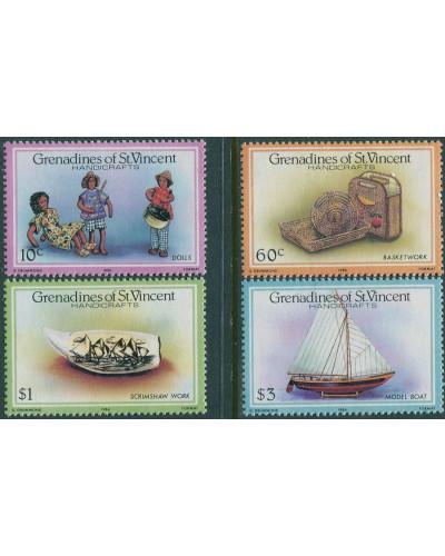 Grenadines of St Vincent 1986 SG464-467 Handicrafts set MNH