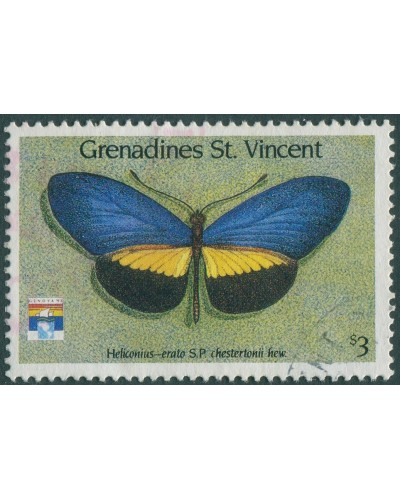 Grenadines of St Vincent 1992 SG834 $3 Butterfly FU