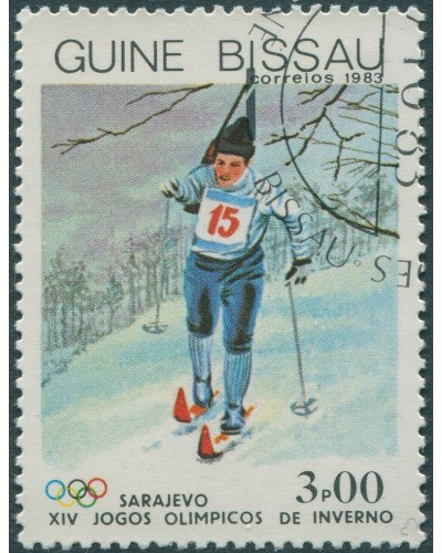 Guinea-Bissau 1983 SG788 3p Cross-country skiing FU