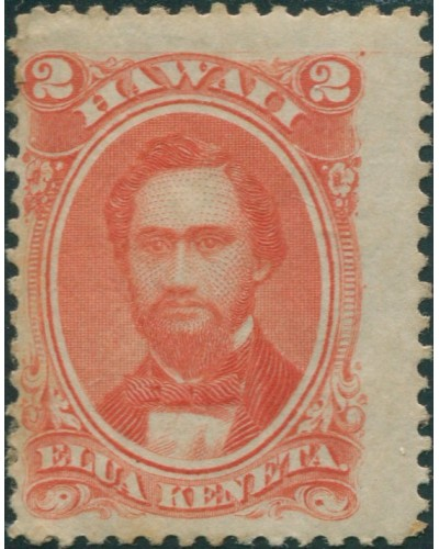 Hawaii 1864 SG41 2c red King Kamehame IV MH