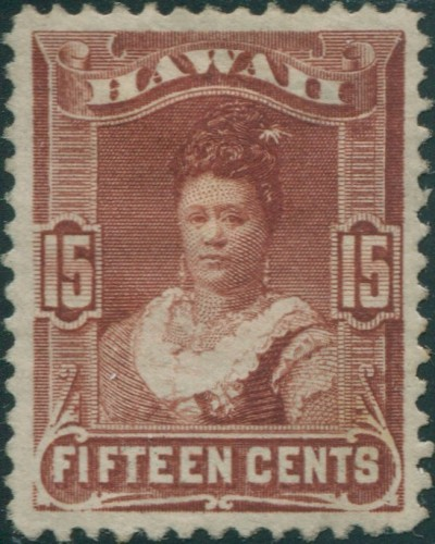 Hawaii 1875 SG48 15c brown Queen Kapiolani MH