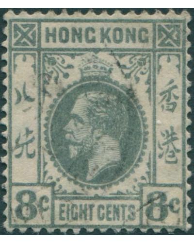 Hong Kong 1912 SG104 8c grey KGV FU