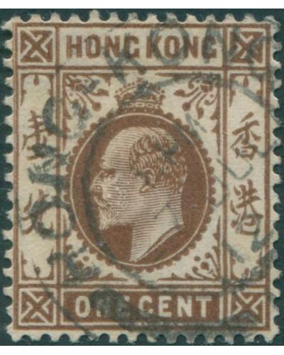 Hong Kong 1907 SG91 1c brown KEVII FU
