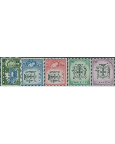 Jamaica 1956 SG170-174 QEII Fort Charles and Arms MLH