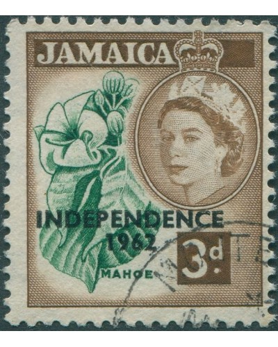 Jamaica 1962 SG184 3d Mahoe Independence FU