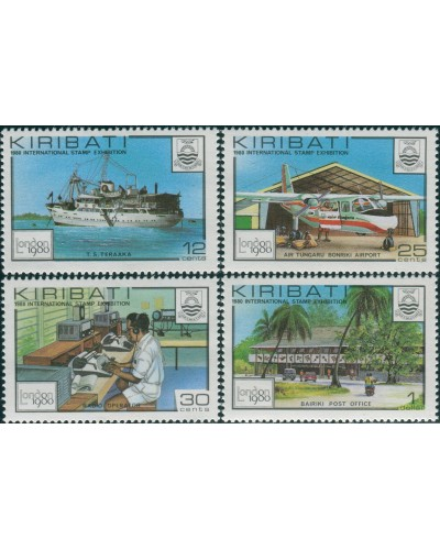 Kiribati 1980 SG112-115 Stamp Exhibition London set MNH