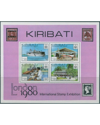 Kiribati 1980 SG116 Stamp Exhibition London MS MNH
