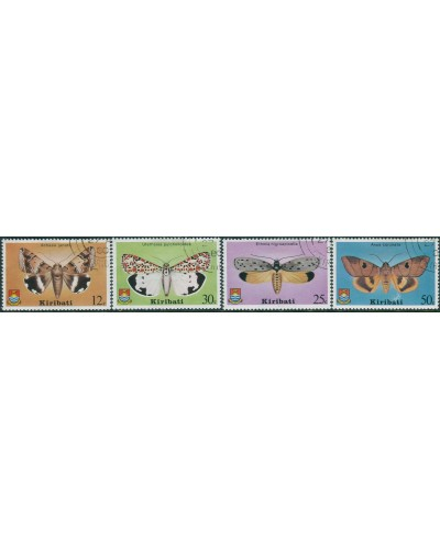 Kiribati 1980 SG117-120 Moths set FU