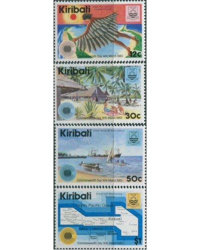 Kiribati 1983 SG197-200 Commonwealth Day set MNH