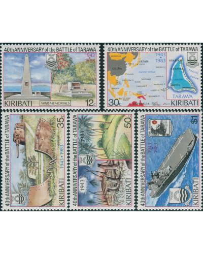 Kiribati 1983 SG210-214 Battle of Tarawa set MLH