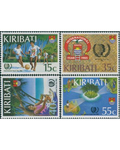 Kiribati 1985 SG241-244 Youth Year set MLH