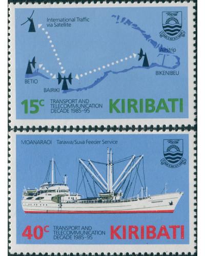 Kiribati 1985 SG249-250 Transport and Communications set MLH