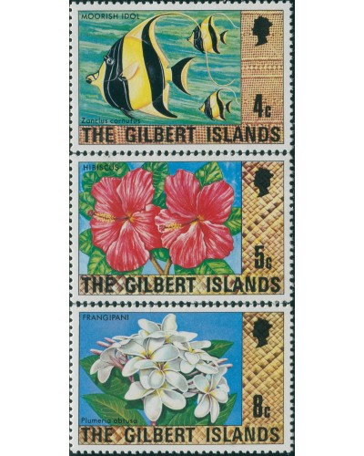 Gilbert Islands 1976 SG25-29 Fish Flowers MNH