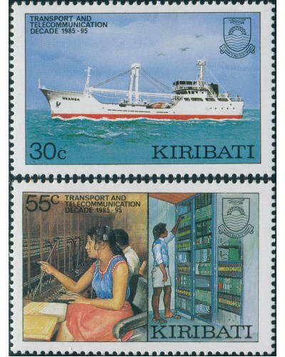 Kiribati 1987 SG268-269 Transport and Communications set MNH