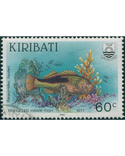 Kiribati 1990 SG336 60c Freckled Hawk-fish FU