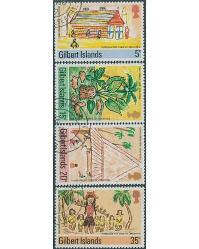 Gilbert Islands 1976 SG39-42 Christmas set FU