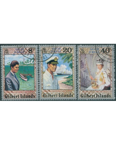 Gilbert Islands 1977 SG48-50 Silver Jubilee set FU
