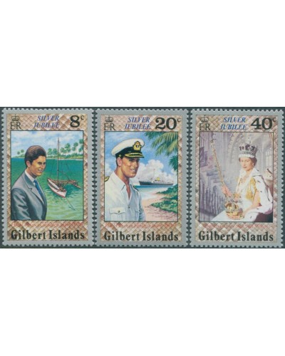 Gilbert Islands 1977 SG48-50 Silver Jubilee set MLH