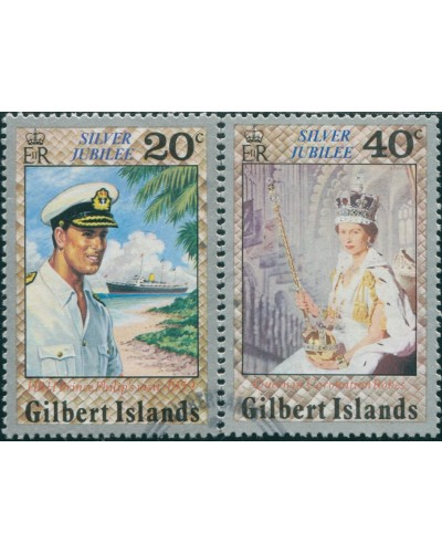 Gilbert Islands 1977 SG49-50 Silver Jubilee FU