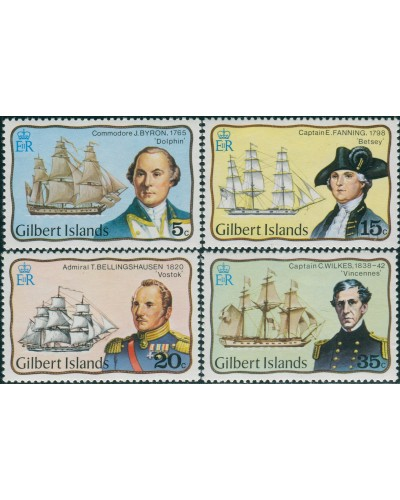 Gilbert Islands 1977 SG51-54 Explorers set MNH