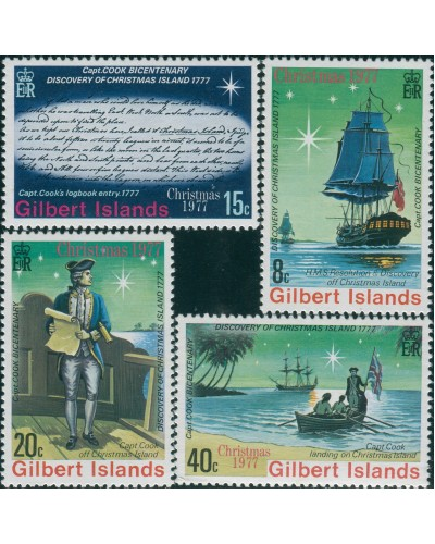 Gilbert Islands 1977 SG55-58 Christmas set MNH