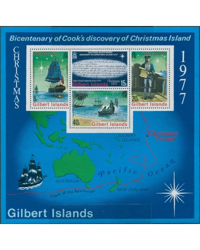 Gilbert Islands 1977 SG59 Christmas MS MNH