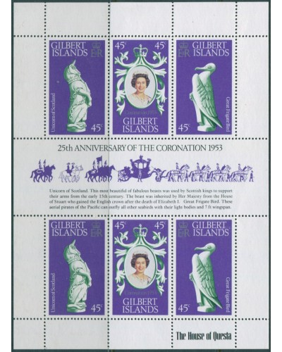 Gilbert Islands 1978 SG68a Coronation sheet MNH