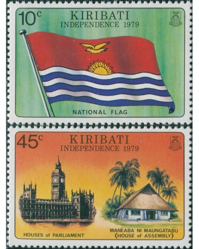 Kiribati 1979 SG84-85 Independence set MLH