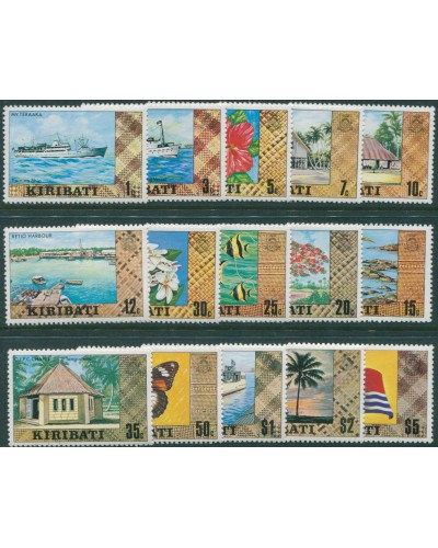 Kiribati 1979 SG86-99b Scenes Ships Flowers Fish set MNH
