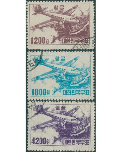 Korea South 1952 SG196-198 Airmail set FU