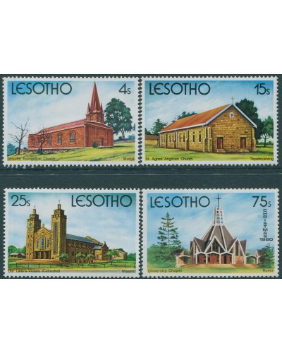 Lesotho 1980 SG426-429 Christmas churches set MNH