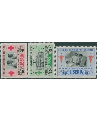 Liberia 1954 SG742-744 Hospital Fund MNH